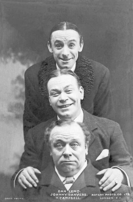 Dan Leno Johnny Danvers y Harry Campbell
