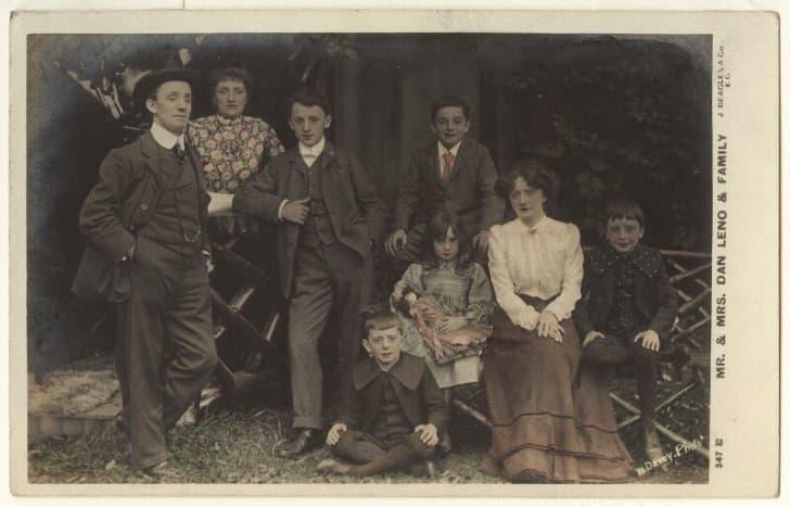 Dan Leno y su familia