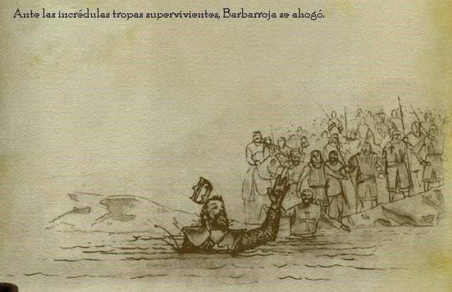 Federico I Barbarroja ahogado