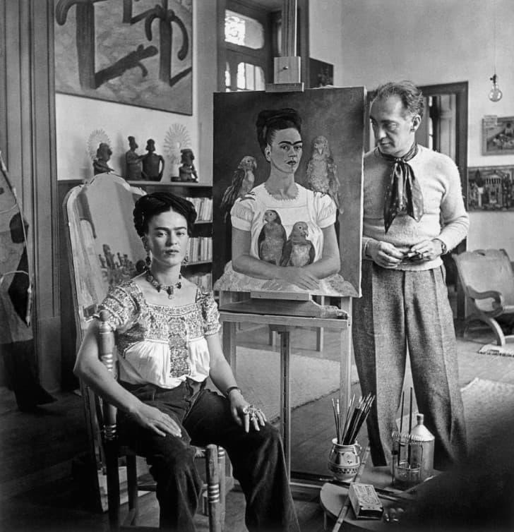 Frida Kahlo y Nick Muray Coyoacan 1941