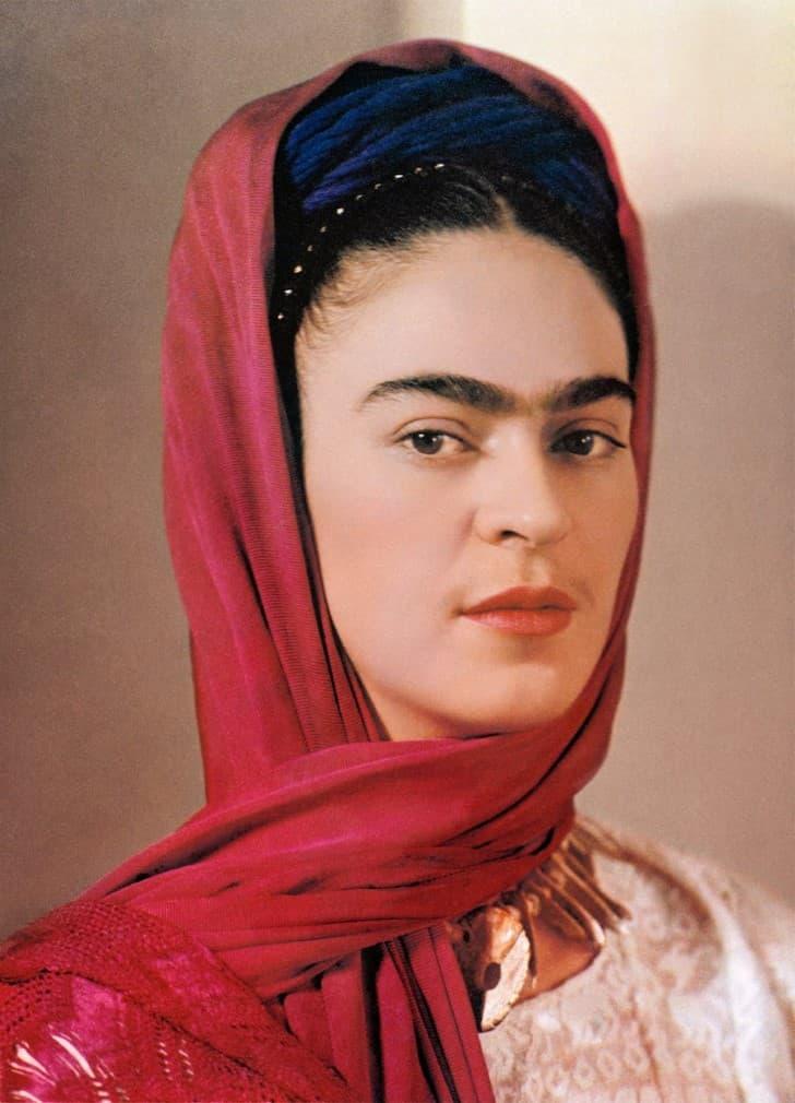 Frida con un rebozo rojo, NY 1939