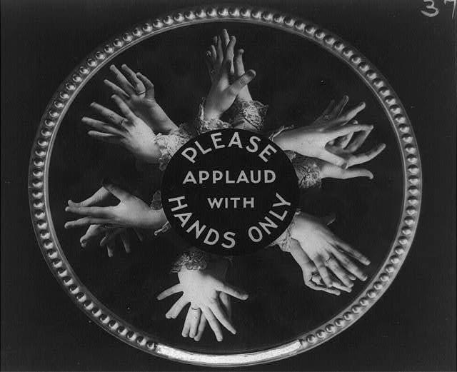 aplaudir solo con las manos
