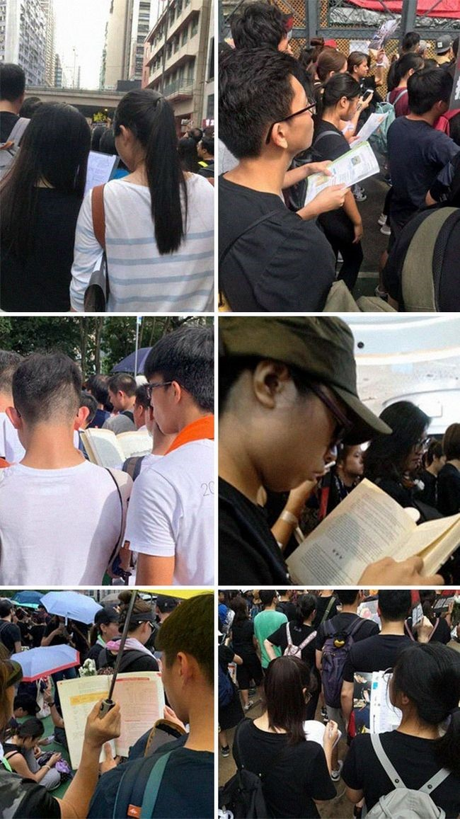 manifestacion ejemplar en hong kong estudiantes