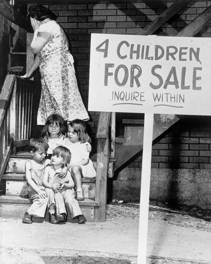 niños en venta foto historica