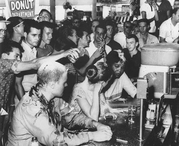 protesta en woolworths 1963
