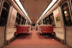 vago del metro vacio