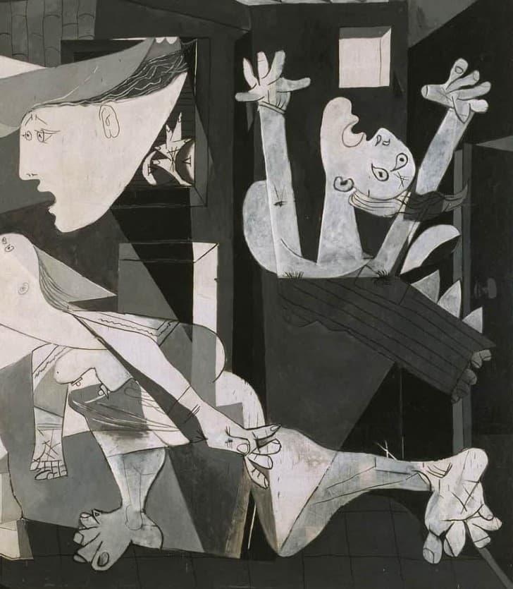 Guernica de Picasso inferior derecha,