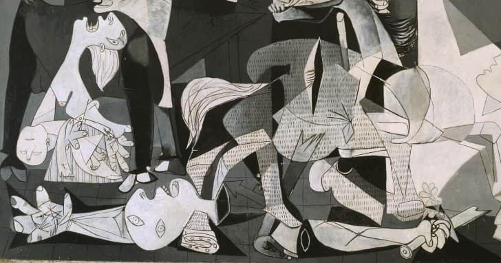 Guernica de Picasso inferior izquierda,