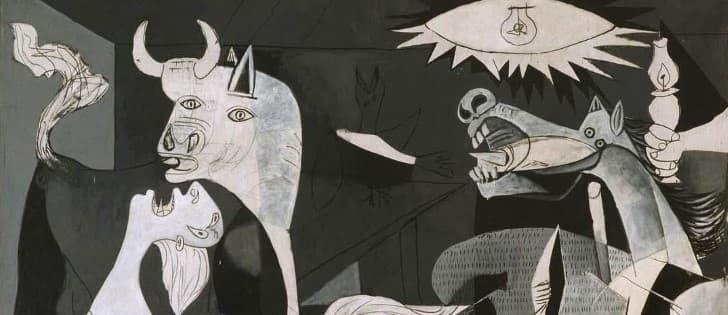 Guernica de Picasso superior izquierda,