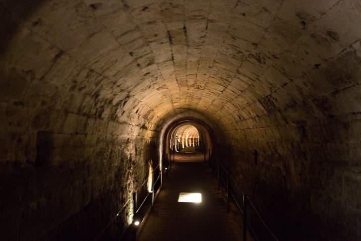 Tunel de los Templarios en Fortaleza de Acre misterioso