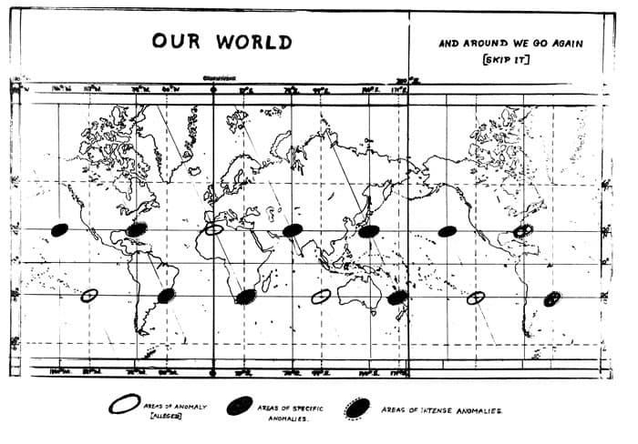 areas de anomalias en el mundo