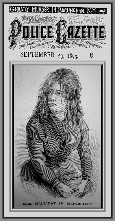 aseina Lizzie Halliday en prision