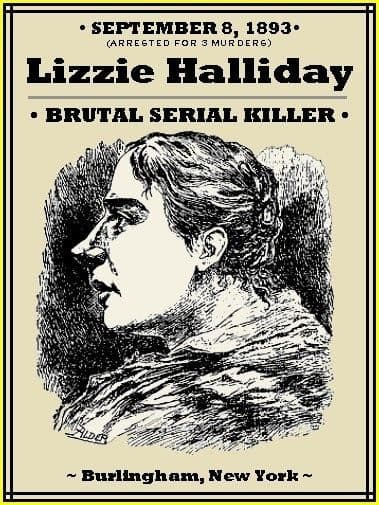 asesina serial Lizzie Halliday cartel