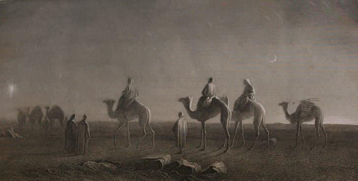 el mesias viajando por el desierto