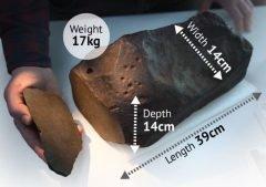 Hombre que buscaba oro descubre extraño meteorito