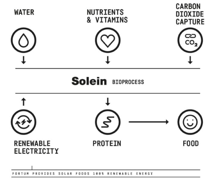 producción de solein por solar foods
