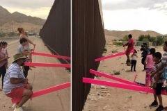 sube y baja muro fronterizo