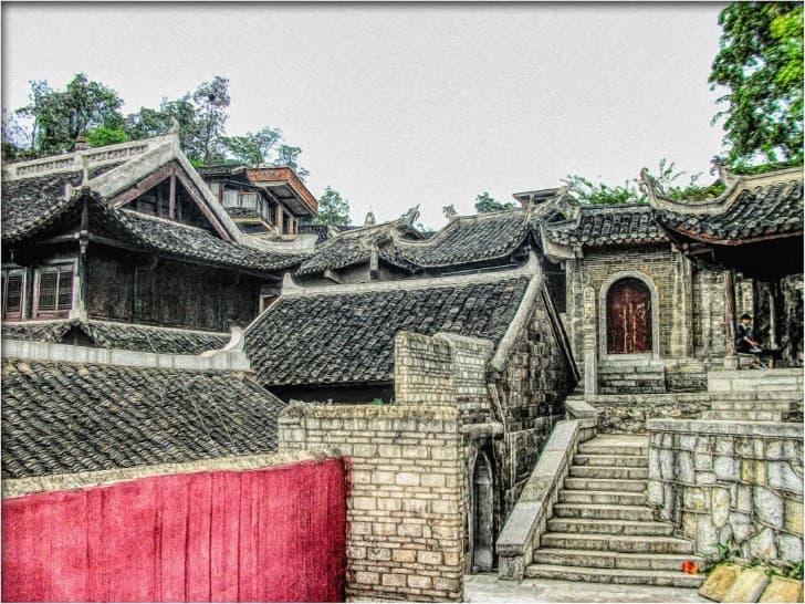 techos tradicionales en china