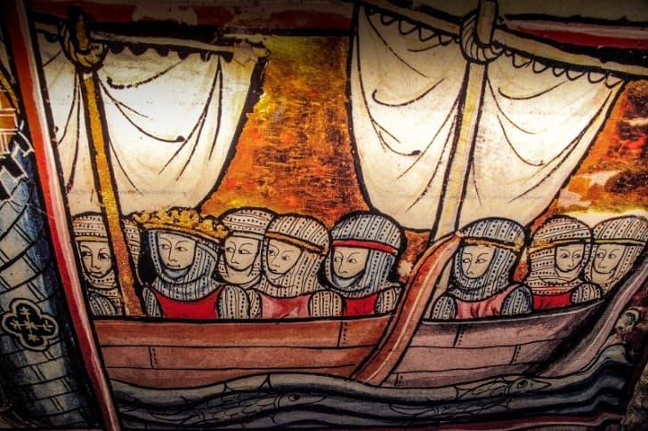 templarios en embarcacion