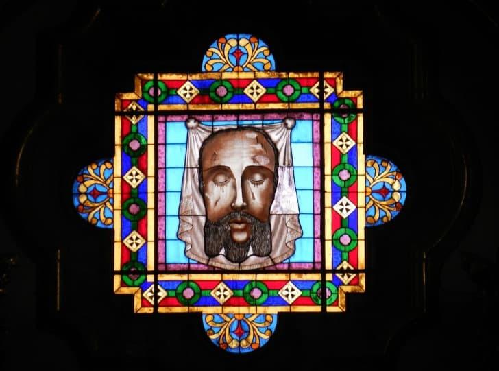 vitral rostro de jesus sudario