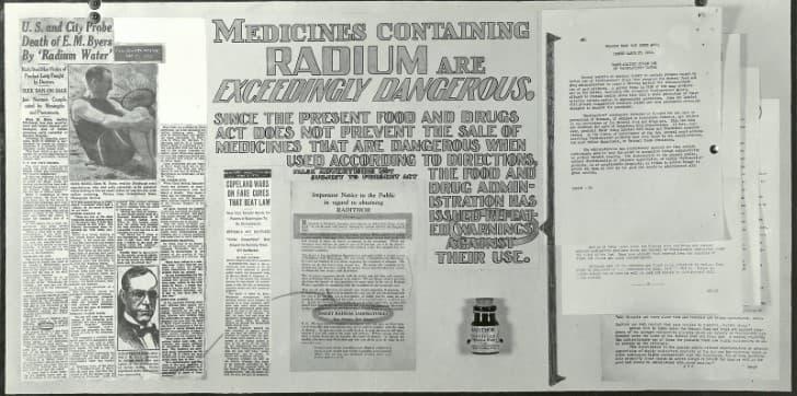 Radithor noticia sobre su peligrosidad