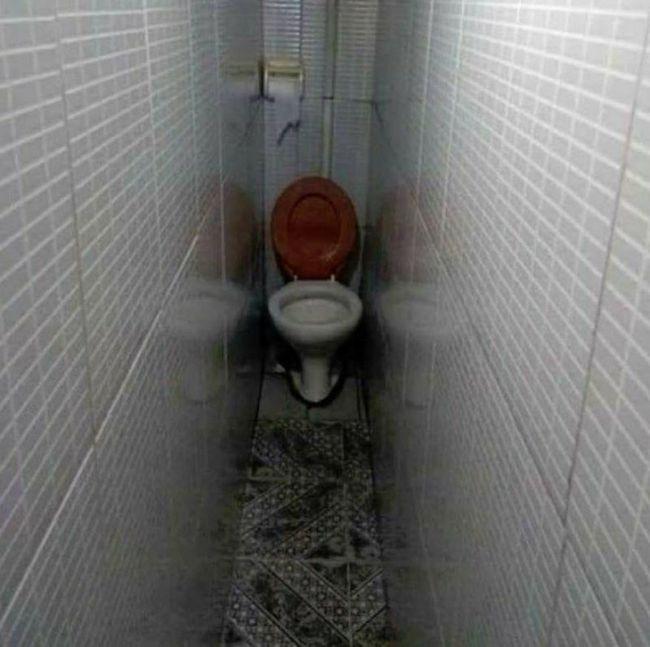 baño claustrofobico