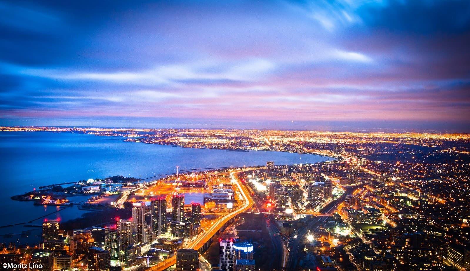 ciudad de toronto vista desde la Torre CN