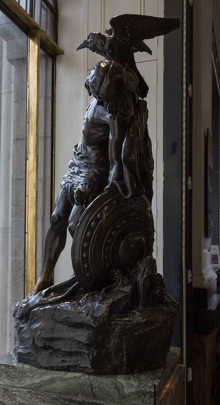 estatua de Cú Chulainn en Dublin Irlanda