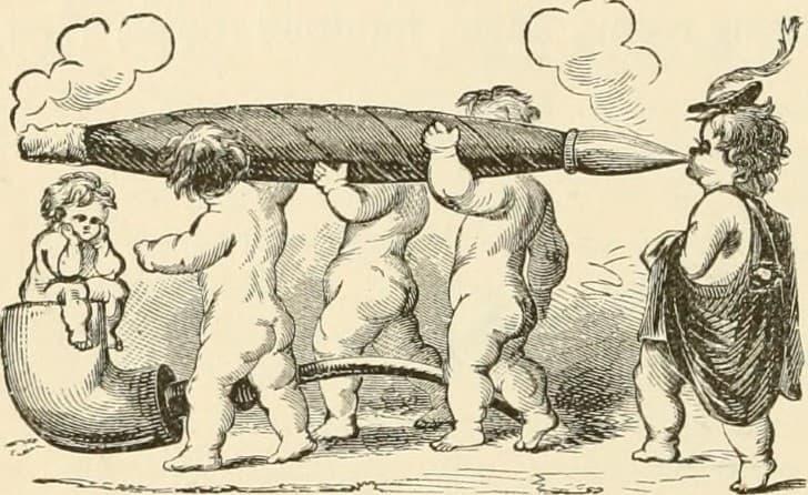 ilustracion fumadores de tabaco