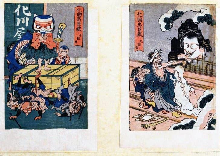 ilustraciones yokai en japon