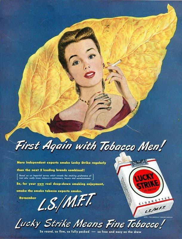 lucky strike anuncio tabaco