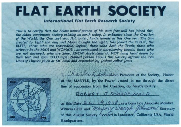 membresia de la sociedad de la tierra plana