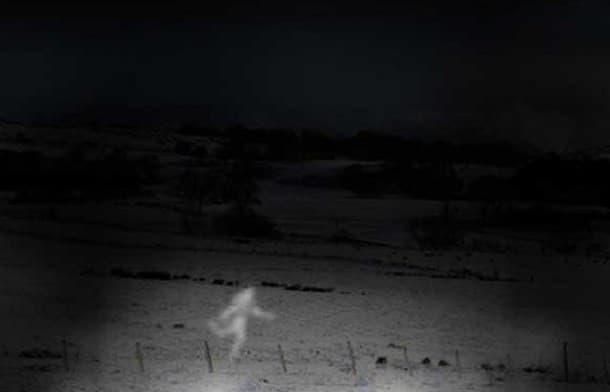 misteriosa bailarina en el campo