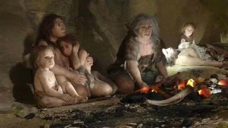 neandertales en las cavernas