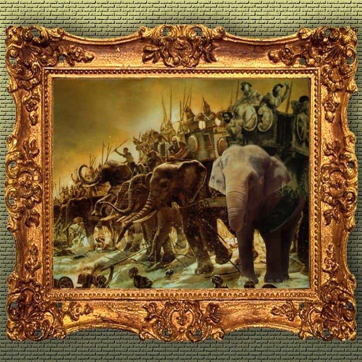 pared de elefantes