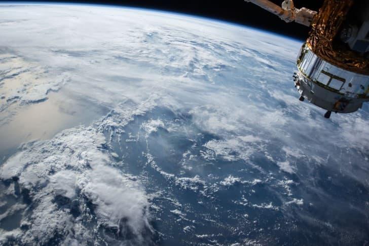 tierra vista desde la estacion espacial internacional