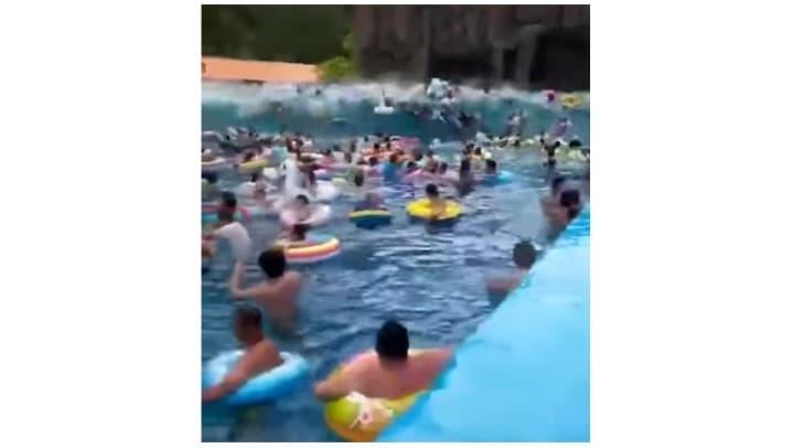 tsunami china parque acuatico