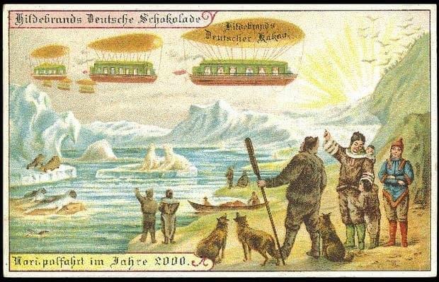 viaje al polo norte en dirigible
