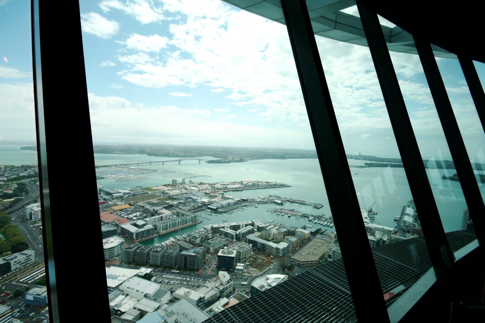 vista de auckland desde la SkyTower