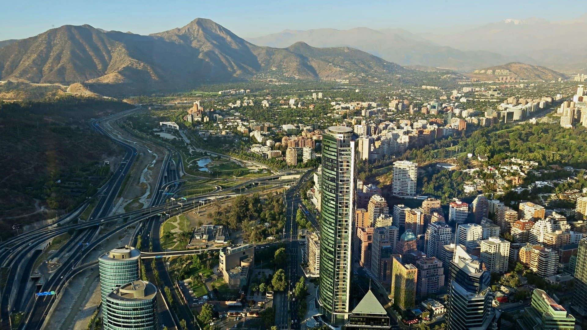 vista desde la gran torre santiago