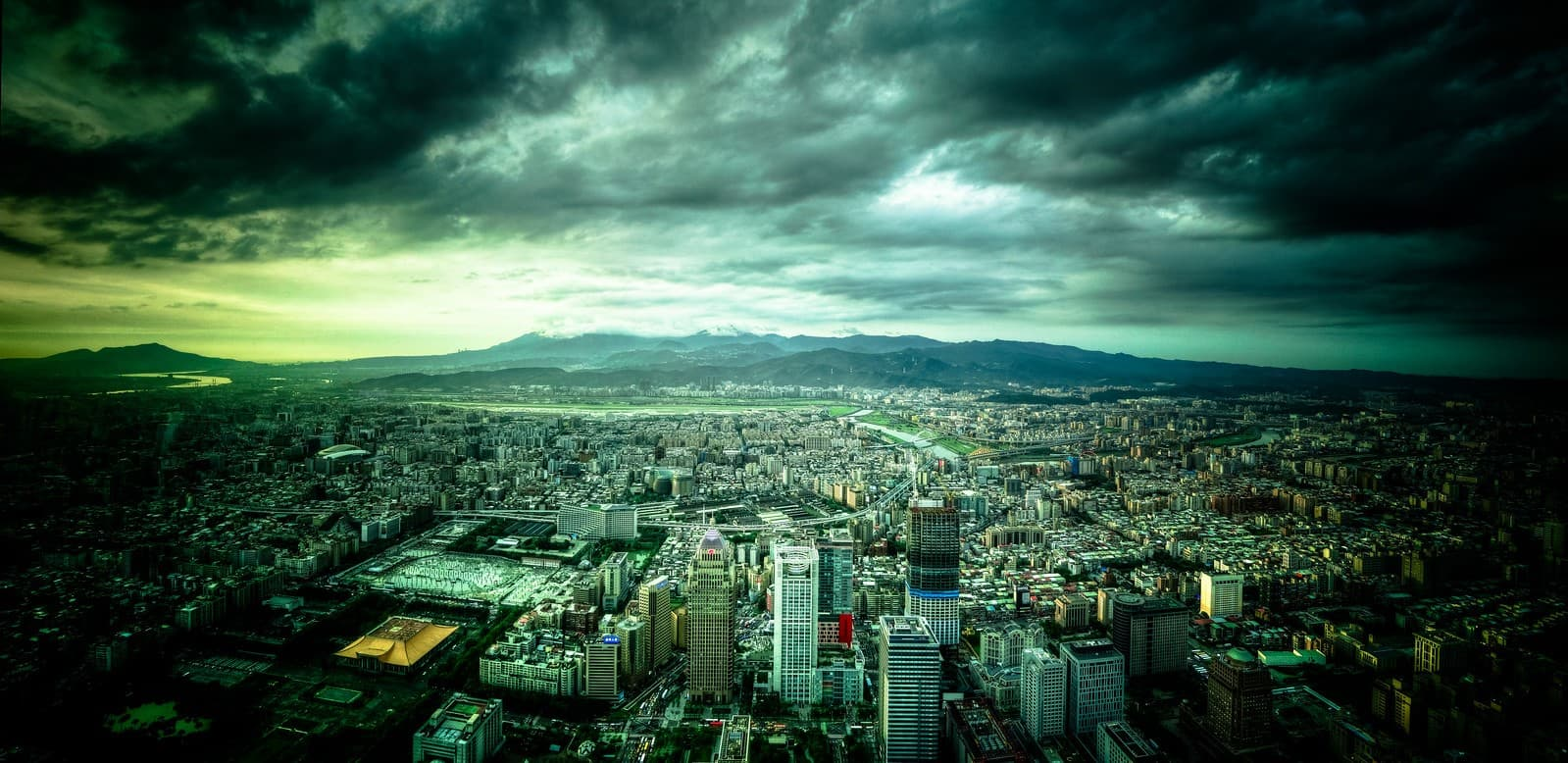 vista desde la torre taipei 101