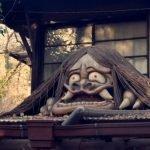 yokai sobre el techo en japon