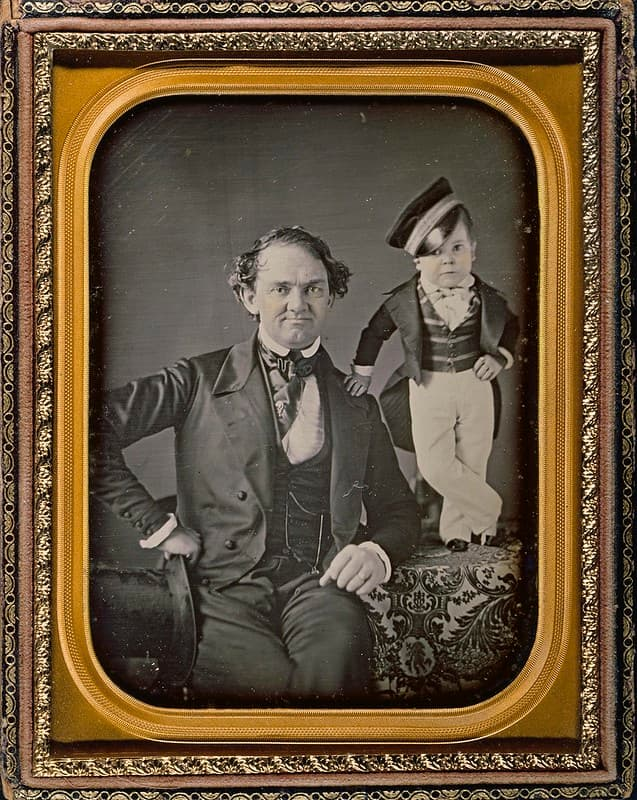 PT Barnum y el general Tom Thumb