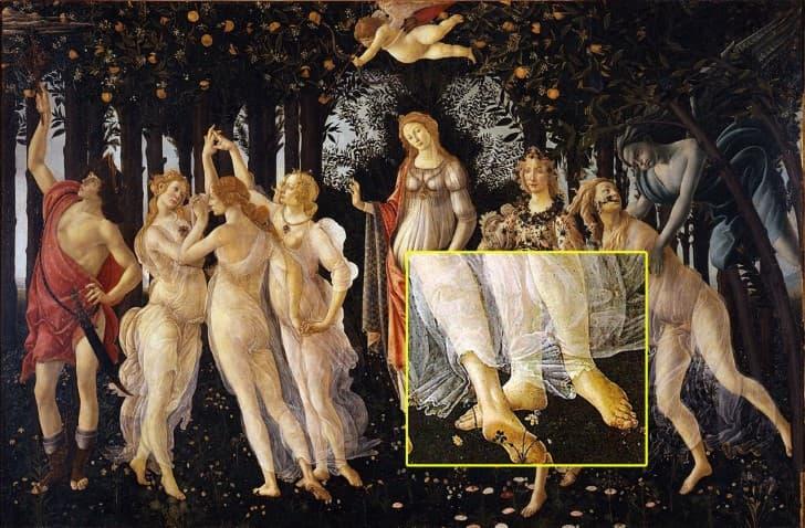 dedo de morton primavera Sandro Botticelli