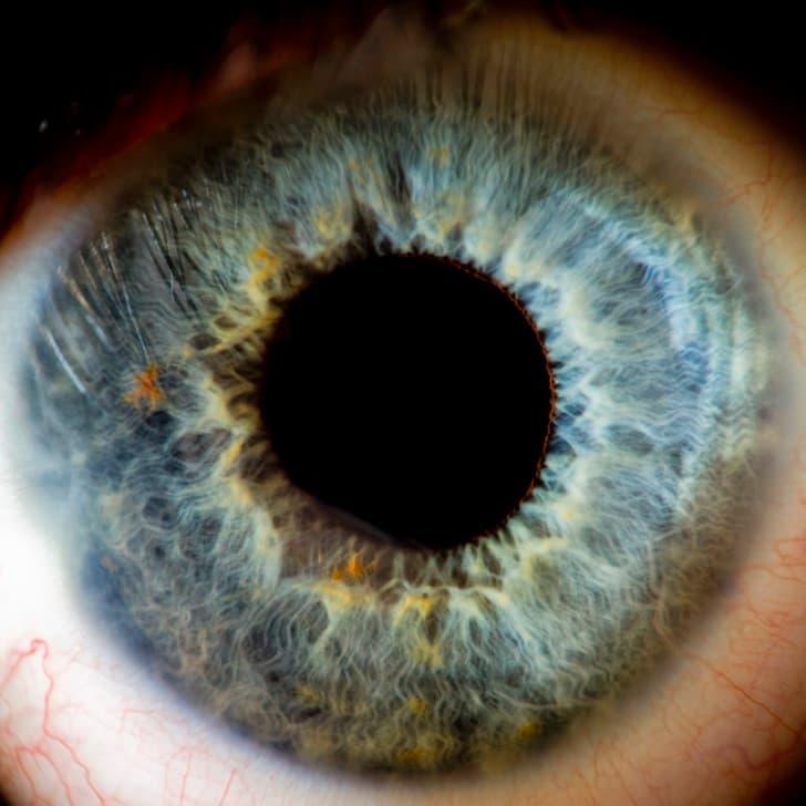 ojo azul iris