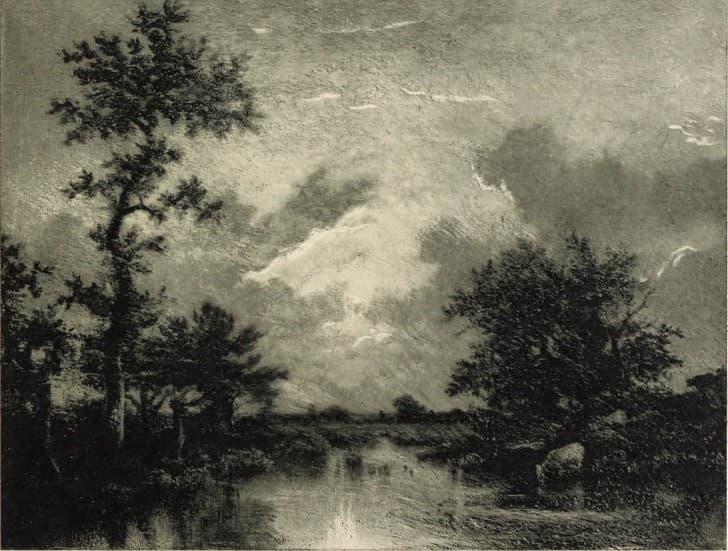 paisaje de tormenta pintura