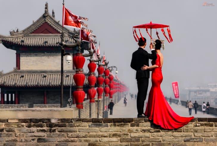 pareja de enamorados en china