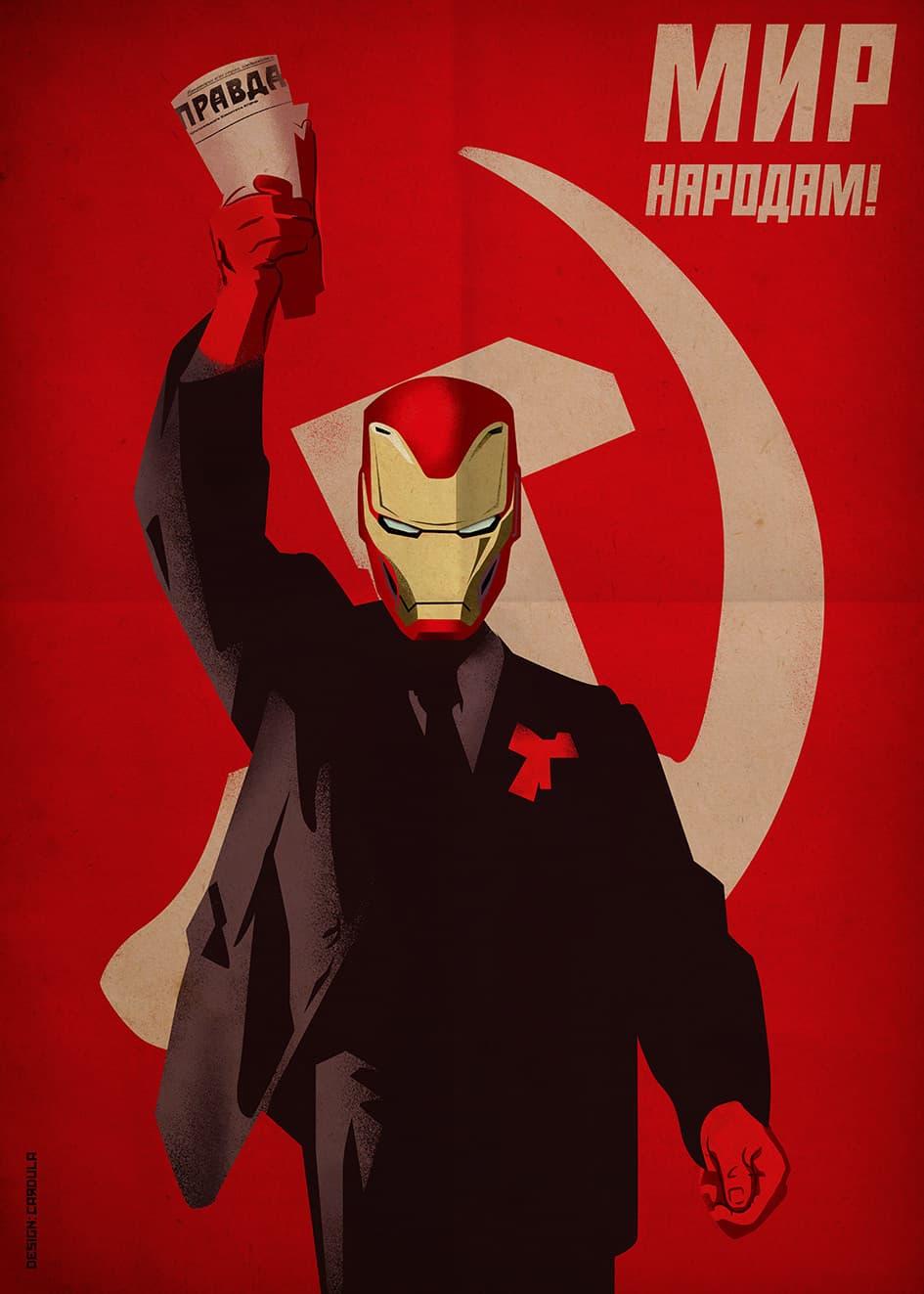 superheroes carteles sovieticos iron man (8)