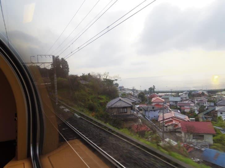 tren recorriendo japon