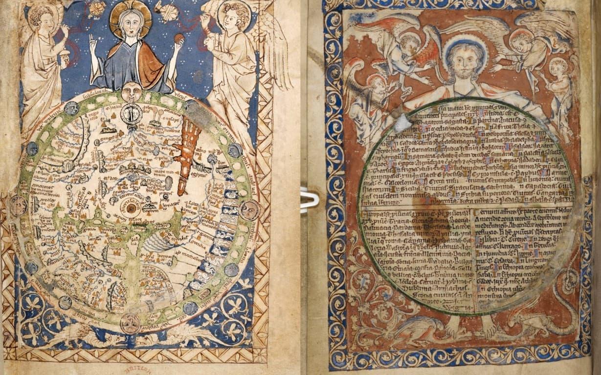 Mapamundi del Salterio de la abadía de Westminster